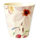 Rice - Melamine Cup Two Tone, Selmas Flower Print