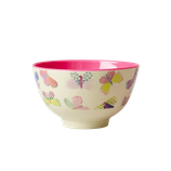 Rice - Small Melamine Bowl Two Tone with Butterfly Print