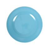 Rice - Melamine Round Side Plate, Turquoise