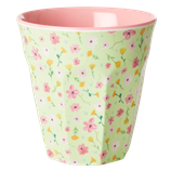 Rice - Melamine Cup Medium,  Green Easter Flower Print