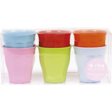 Rice - Small Curved Cups, Bright Colors