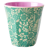 Rice - Melamine Cup Two Tone, Fern and Flower Print