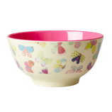 Rice - Melamine Bowl Two Tone with Butterfly Print