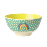 Rice - Melamine Bowl, Rainbow and Star Print