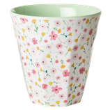 Rice - Melamine Cup Medium,  White Easter Flower Print