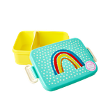 Rice - Large Lunchbox with Divider, Rainbow and Star Print