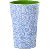Rice - Melamine Two Tone Tall Cup, Blue and White Marrakesh Print