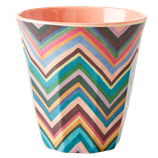 Rice - Melamine Cup Medium,  Zigzag Print