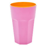Rice - Melamine Tall Cup, Pink and Orange
