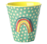 Rice - Melamine Cup Two Tone, Rainbow and Stars Print