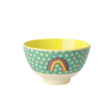 Rice - Small Melamine Bowl, Rainbow and Star Print