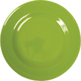 Rice - Melamine Dinner Plate, Apple Green