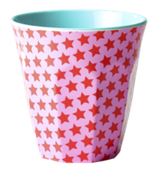 Rice - Melamine Cup Two Tone with Girls Star Print