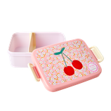 Rice - Large Lunchbox with Divider, Small Flower and Cherry Print