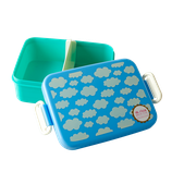 Rice - Large Lunchbox with Divider, Cloud Print Blue
