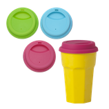 Rice - Silicone Lid for Our Melamine Tall Cups in 3 Assorted Colors