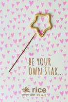 "Rice - Sparkler ""To and From"" Card, Star shaped"