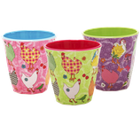 Rice - Melamine Cup Two Tone Hen Print in Assorted Colors