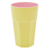 Rice - Melamine Tall Cup, Yellow and Pink