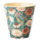 Rice - Melamine Cup Two Tone,  Fall Flower Print