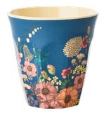 Rice - Melamine Cup Two Tone,  Flower Collage Print