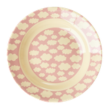 Rice - Melamine Kids Bowl - Cloud Print Pink