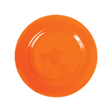 Rice - Melamine Round Side Plate, Orange