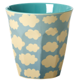 Rice - Melamine Cup Two Tone with Cloud Print