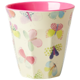 Rice - Melamine Cup Two Tone with Butterfly Print