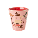 Rice - Melamine Kids Cup - Jungle Animals Print Pink