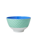 Rice - Small Melamine Bowl Two Tone with Star Print