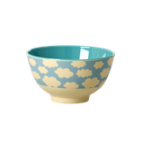 Rice -  Small Melamine Bowl Two Tone with Cloud Print