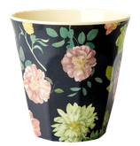 Rice - Melamine Cup Two Tone, Dark Rose Print