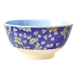 Rice -  Melamine Bowl Two Tone - Hanging Flower Print