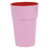 Rice - Melamine Two Tone Tall Cup, Pink and Red