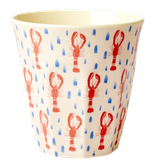 Rice - Melamine Cup Two Tone, Lobster Print