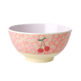 Rice - Melamine Bowl, Small Flower and Cherry Print