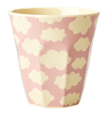 Rice - Melamine Cup Two Tone with Cloud Print Pink