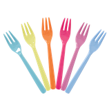 Rice - Melamine Cake Forks in Assorted 'Go for the Fun' Colors