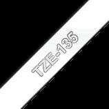 Beschriftungsband weiß auf transparent