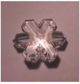 Feng Shui Kristall SCHNEEFLOCKE 35mm, 2. Wahl