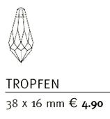 Feng Shui Kristall TROPFEN 15mm