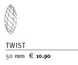 Feng Shui Kristall TWIST 50mm