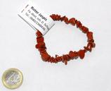 Splitterarmband Jaspis rot ca. 18-19cm