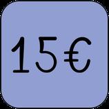 Don ponctuel de 15 €euros