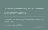 Yogablu   Gutschein für 3 Stunden Yoga