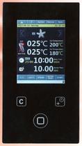 Stikkenofensteuerung Touchscreen