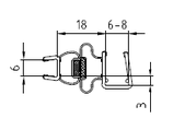 Magnetleisten-Set  - Tür zu Seitenwand