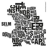 Poster Buchstabenorte Selm, verschiedene Farben