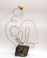 """""""Blumenpflückerin"""" - Eindraht-Figur"""